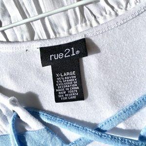 Rue21 Tops - Faux Wrap Tee
